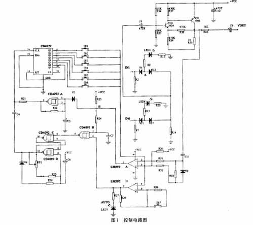 其中cd4022是一片八进制计数器